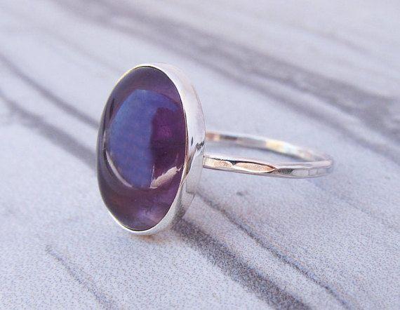 Anillo Amatista - febrero Birthstone anillo - amatista cumpleaños regalo para hermana de plata - Purple anillo piedra - piedra dones curativos de las piedras preciosas
