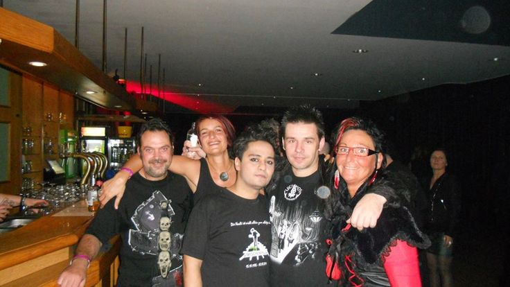 with friends and frontman of the Turkish band She Past Away - Volcan Caner