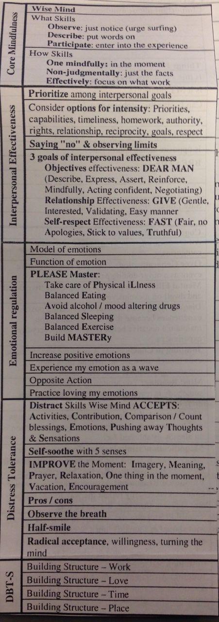 dbt skills training manual pdf