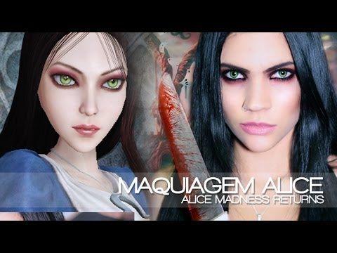 Tutorial de Maquiagem: Alice Madness Returns (Maquiagem Cosplay) - YouTube