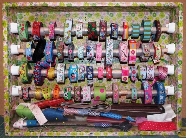 XE Blog: Webbandbox by Xenia Ribbon Storage craft room