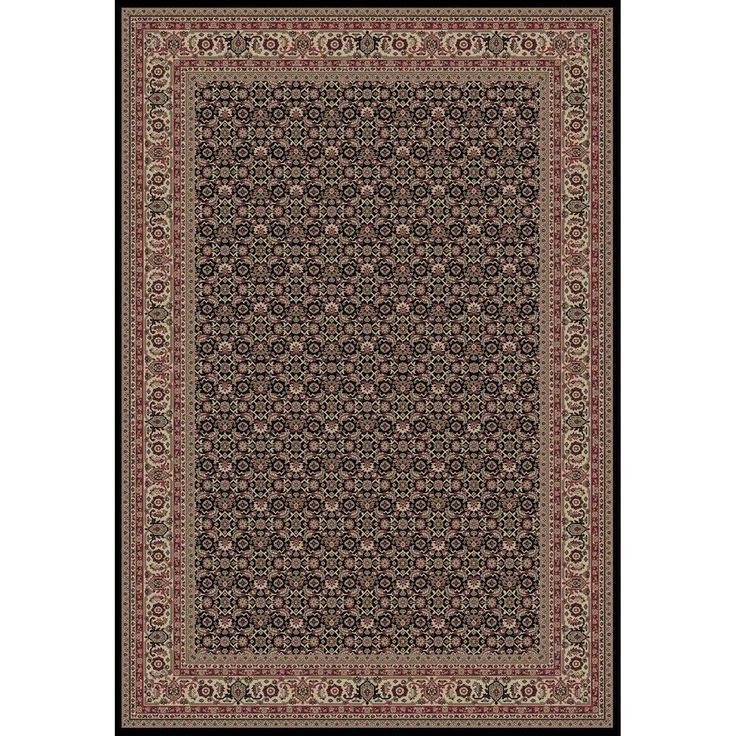 Persian Classics Herati Black 7 ft. 10 in. x 11 ft. 2 in. Area Rug