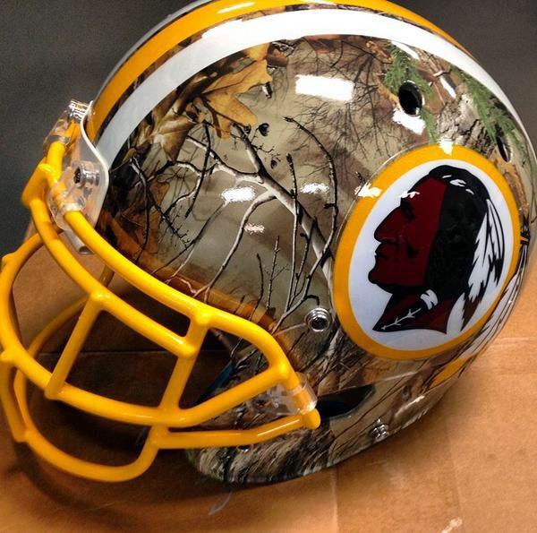 Redskins camo helmet