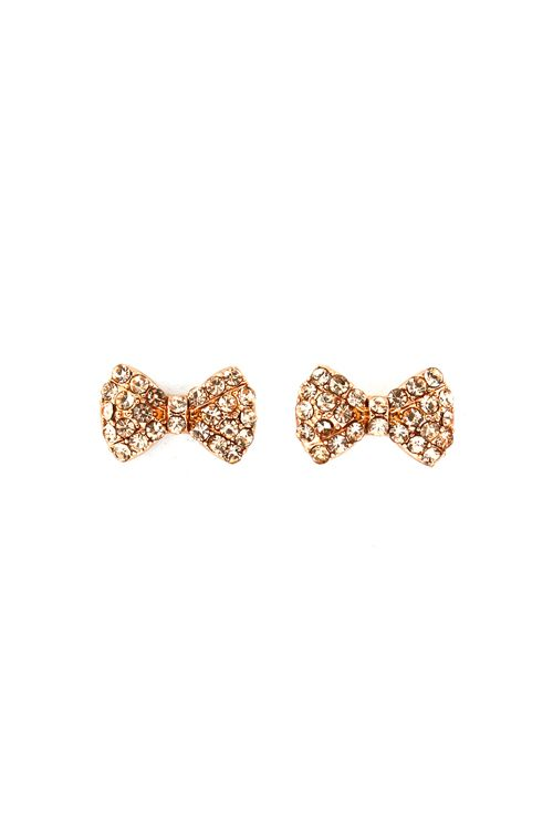 Champagne Crystal Bows | Awesome Selection of Chic Fashion Jewelry | Emma Stine Limited