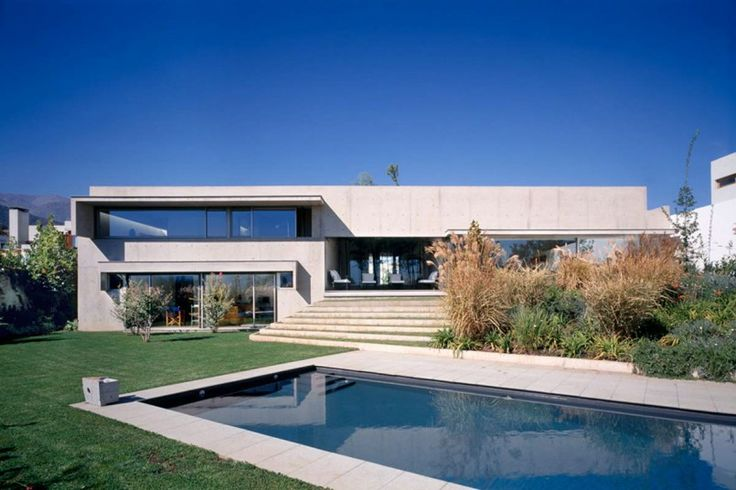 Contemporary House Backyard