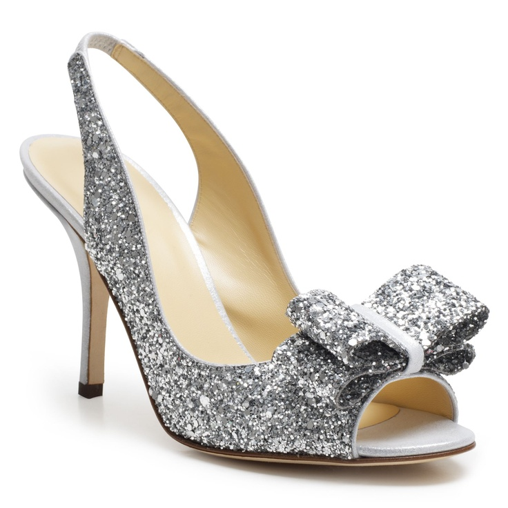 Sparkly shoes, Charm from Kate Spade.