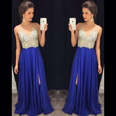 Pd01152 Charming Prom Dress,A-Line Prom Dress,Chiffon Prom Dress,V-Neck Prom Dress,Beading Evening Dress
