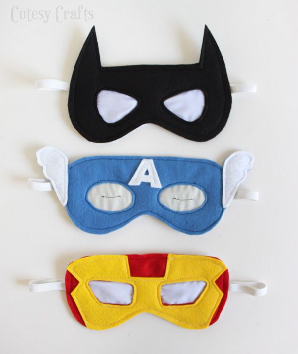 Superhero Sleep Masks Tutorial - Great gift for the boy in your life, no matter the age! (& a few adaptations will make it into a female superhero easily too!)