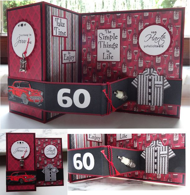 WT588 For a man's 60th birthday (open) by niki1 - Cards and Paper Crafts at Splitcoaststampers