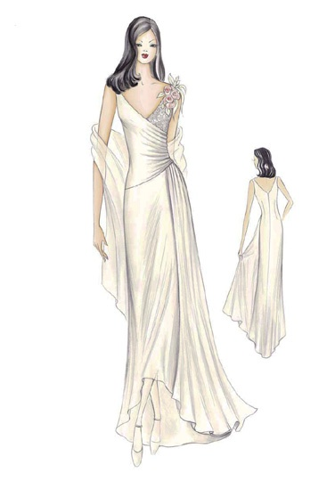 In a different colour, it could be an evening party dress instead of a wedding gown, too. Mod. S 671 -- Marfy Sewing Patterns