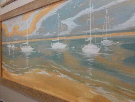 Plywood Art Bay Sails by RedHouseDesignStudio on Etsy, $375.00