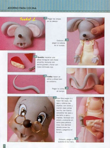 Mouse tutorial.    Мышь, мышка, mouse, Maus, myš - Мастер-классы по украшению тортов Cake Decorating Tutorials (How To's) Tortas Paso a Paso
