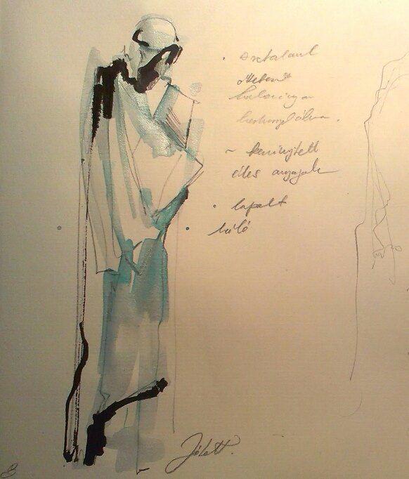 Costume design sketch for Everyman  #ink #anilin