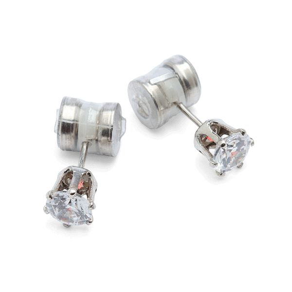 Led Crystal Earrings Light Up The Night In White Or Blue Rubber Backs For When You Want To Be Incognito Comes With Two Pairs Of Batteries