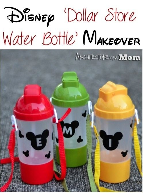 Make special water bottles for the whole fam. | 36 DIYs That Will Get The Whole Family Psyched For A Disney Vacation