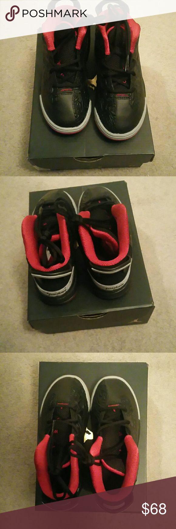 Jordan Dub Zero Black, Red, and Grey. Girls or Boys. BRAND NEW. Never worn! Jordan Shoes Sneakers