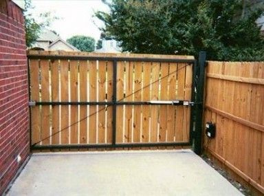 786 best fence and gate images on pinterest fence gate for Building a sliding gate for a driveway