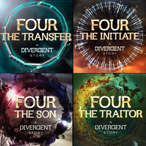 Covers!   4 words on FOUR Transfer Initiate Son Traitor See the first quote from FOUR: A DIVERGENT COLLECTION here.
