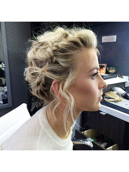 37 Gorgeous Hair Ideas to Steal From Instagram: Julianne Hough's looped braid updo | allure.com