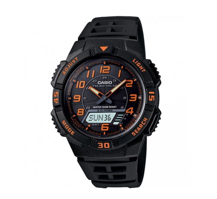 Casio AQS800W-1B2V Tough Solar Black/Orange Analog-Digital Watch