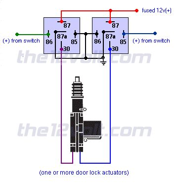 Spdt Relay Wiring Diagram Lock circuit diagram template