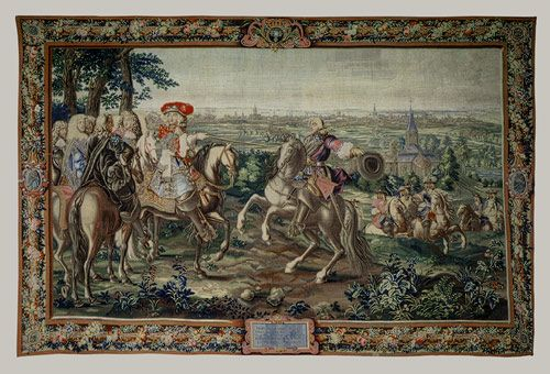 the taking of lille by louis XIV 1670 gobelins