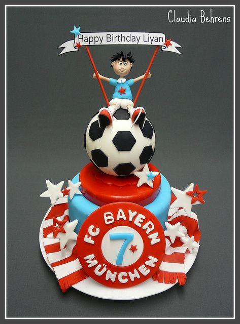soccer cake  - claudia behrens