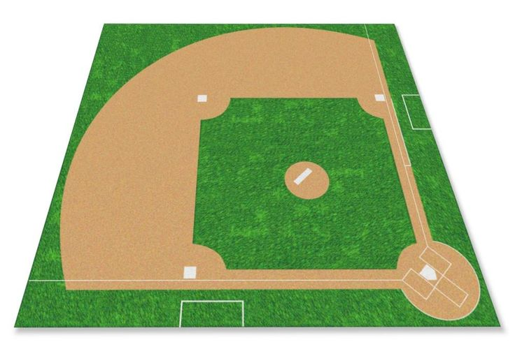 This rug features a KidCarpet.com exclusive design!If you are looking for a smaller baseball field rug, click here Let's play ball! This baseball themed rug off