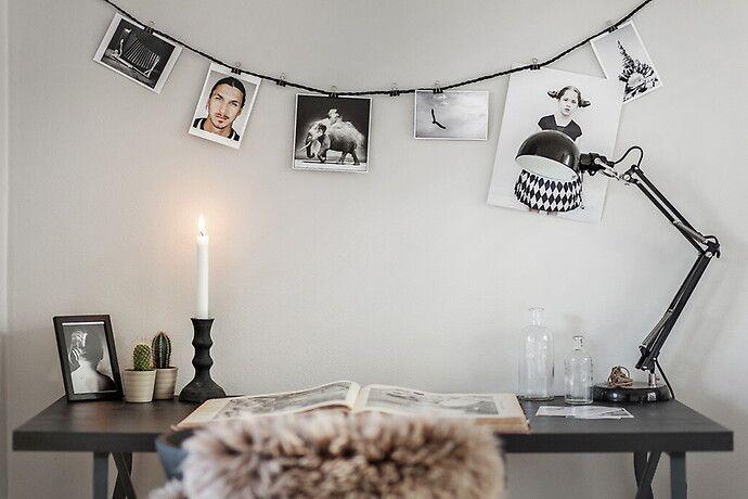 Bilder, Vardagsrum, Vit, Svart, Skrivbord - Hemnet Inspiration