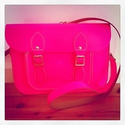 Spotted In The Office: The Cambridge Satchel Company  This bright, bold and totally on-trend satchel was spotted walking round the office today on the arm of one very fashionable staffer. Lucky for you, you can bag yourself one too!  The Cambridge Satchel Company bag, $197.95 available from Fashion Gallery at eBay