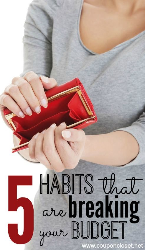 Check out these bad habits that are probably breaking your budget. Are you guilty of any of these?   Change those bad habits and start noticing a difference in your budget.