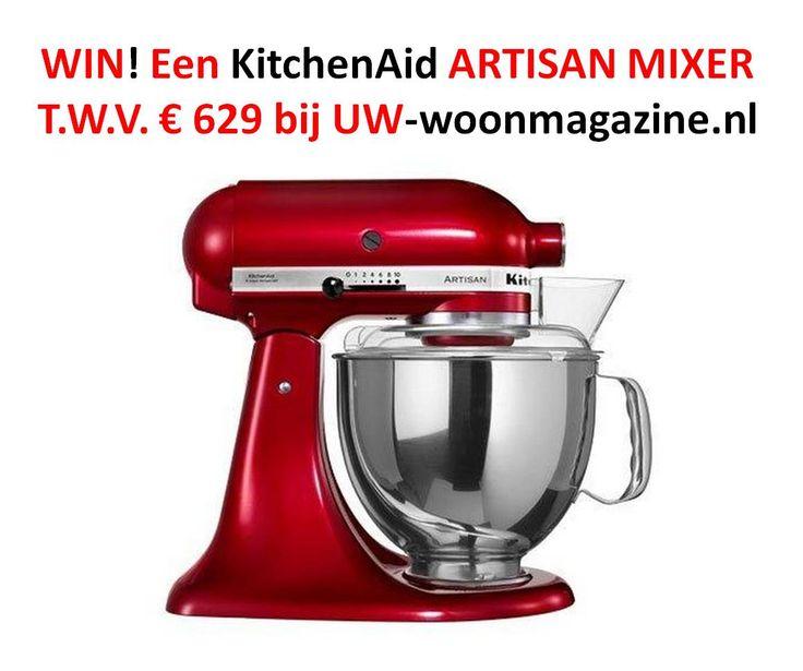 Win een KitchenAid mixer twv 629 euro!