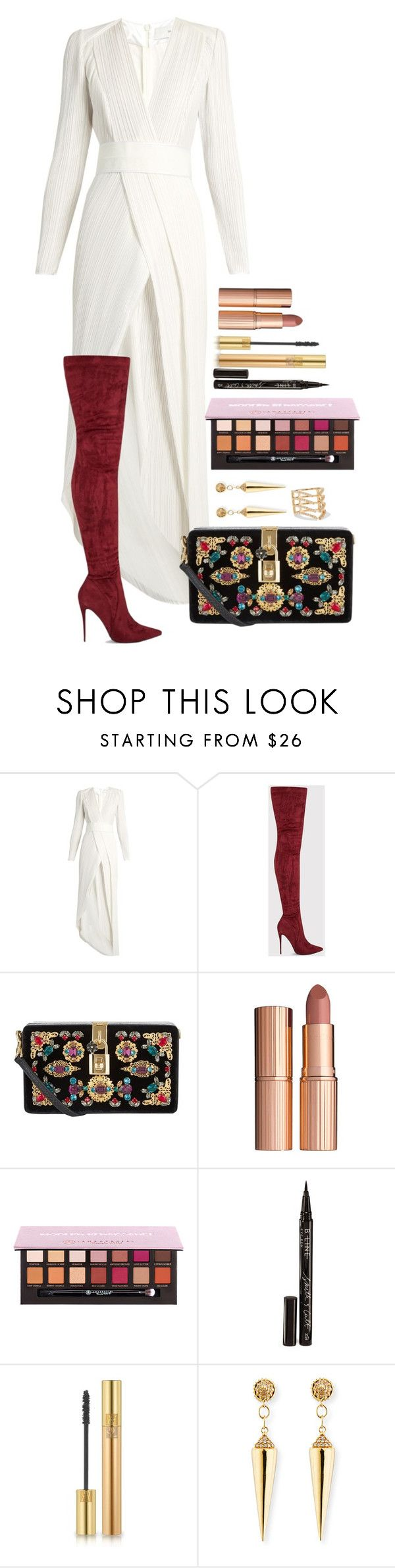 """Untitled #1697"" by fabianarveloc on Polyvore featuring Galvan, Dolce&Gabbana, Charlotte Tilbury, Smith & Cult, Yves Saint Laurent, Sydney Evan and Khai Khai"