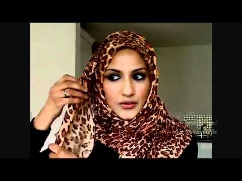 At the request of Muslim women students abroad this Islamic hijab style Islamic headscarf Part 1