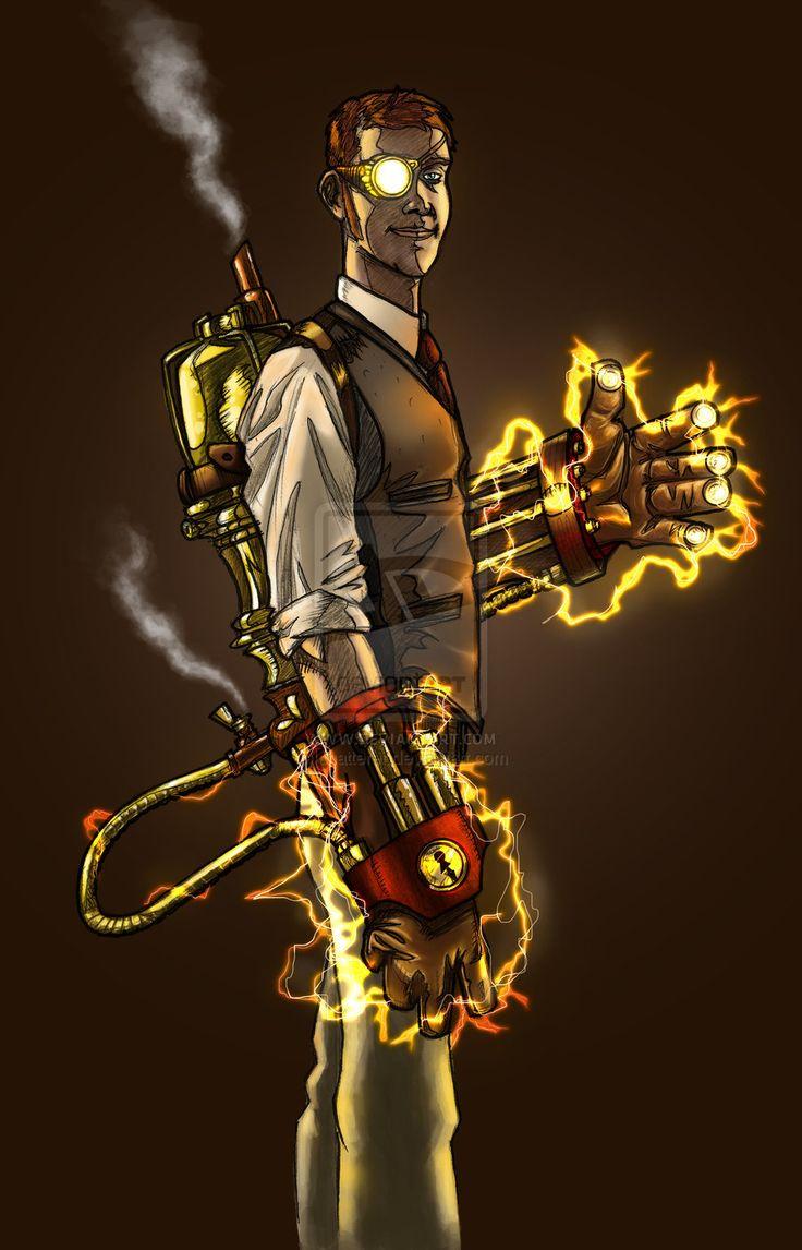 Steam Powered Fists 2 by Dan Aragon, *DecayingArt on deviantART | via 亗 Dr. Emporio Efikz 亗 #Steampunk #Teslapunk