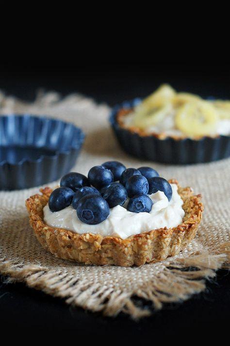 Owsiane tartaletki z kremem orzechowym | Zdrowy deser lub śniadanie