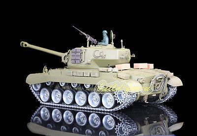 ﹩319.99. 2.4Ghz HengLong 1/16 USA M26 Pershing RTR RC Tank Model Metal Tracks Wheels 3838   Scale - 1:16, Fuel Type - Electric, Required Assembly - Ready to Go/RTR,