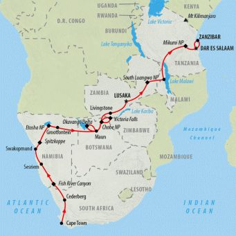 South Africa Safaris | An African Adventure - 37 days | African Safaris | Overland Safaris | South Africa | Africa | On The Go Tours | Australia