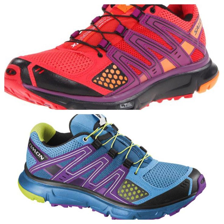 My favorite Salomon trail shoes. just had to have two colors.