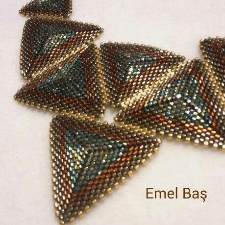 Peyote necklace by Emel Bas from Turkey
