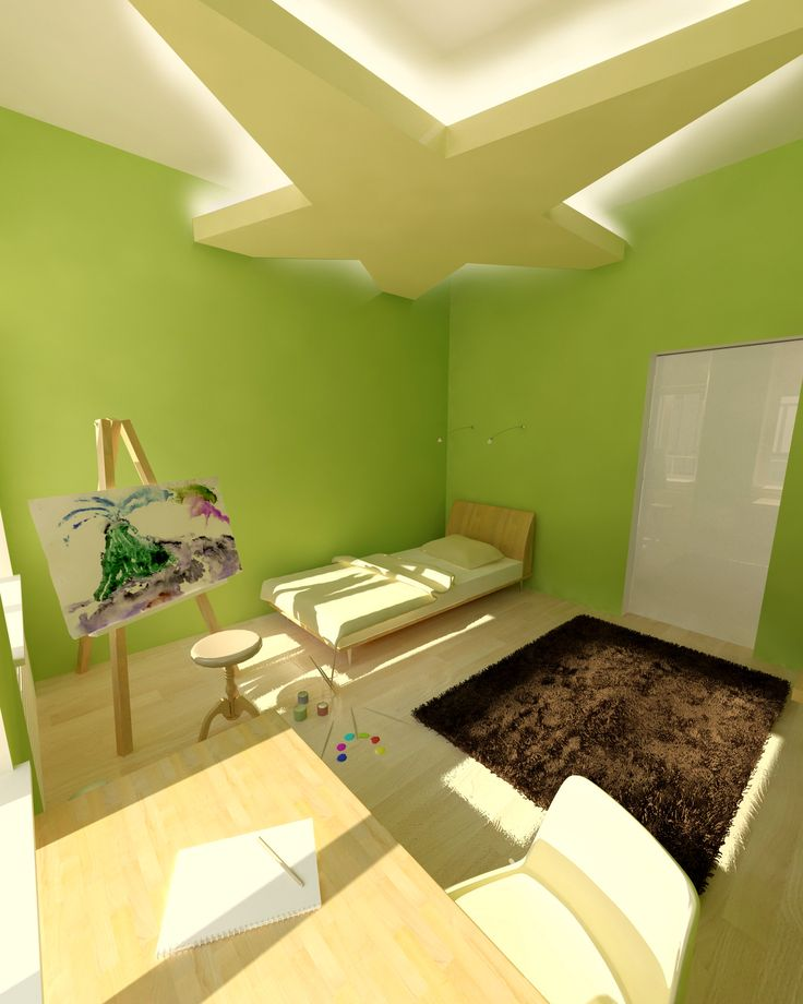 Gyerekszoba- látványterv / Room for kids - architectural visualization