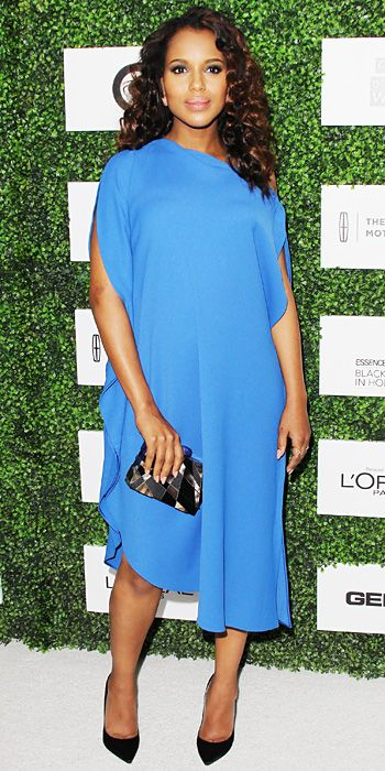 Look of the Day - February 28, 2014 - Kerry Washington in Calvin Klein Collection #InStyle