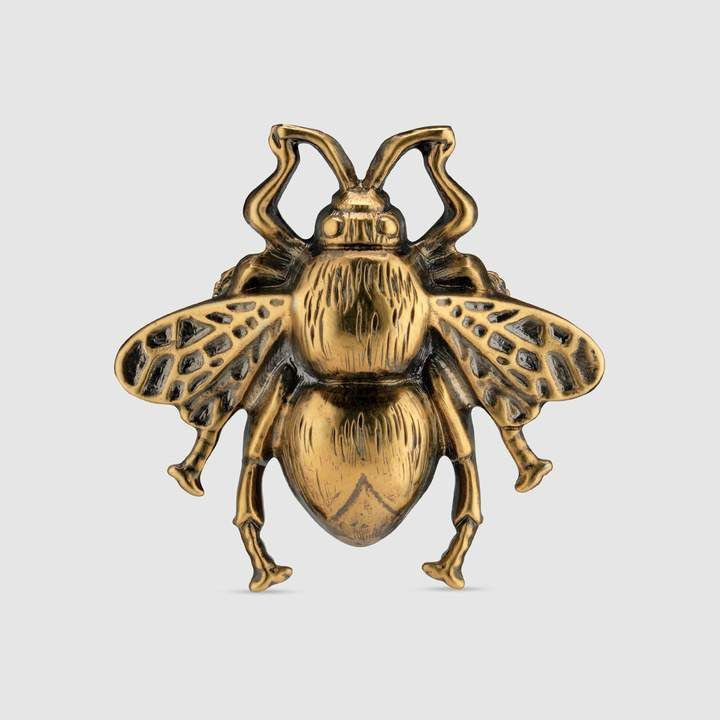 910431064d2 Gucci Bee ring with enamel