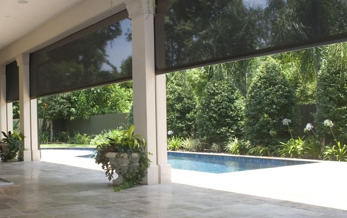 Executive motorized retractable screens by Phantom for our entertaining decking area. Hate flys and bugs while relaxing and eating. #M&I