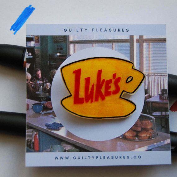 Luke's Diner Pin. Gilmore Girls Pin.