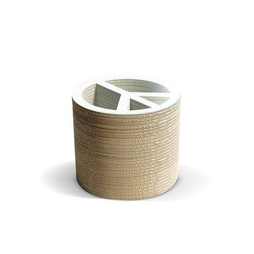 PACE B - Carton Factory Designer: Carton Factory Misure: 46 X 46 X 40h  Tavolo basso in cartone con piano superiore in vetro.   #cartonfactory #ecodesign #cardboard #design #tavolo #cartone