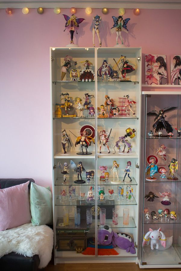 white billy bookcase display