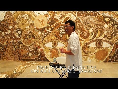 Geologist explains painting with soil at Rice Gallery's 'yamatane' - YouTube