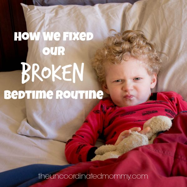 Great example of how to mess up a bedtime routine and then fix it!! Sleep problems are the worst!!