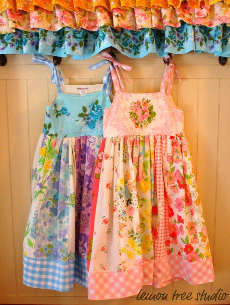 vintage patchwork dresses